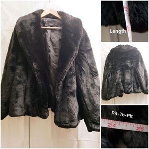 Mossimo Black Faux Fur Plus Size Coat Jacket 3X